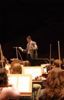 El director de la Orquesta Joven del Aljarafe, Pedro Vázquez.