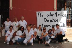Las trabajadoras se concentraron el martes en Morón. Foto: María Montiel