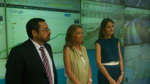 Ramiro Marcello, Felisa Panadero y Ana Luz Jiménez, durante la presentación de la Operación Salida. Foto: H. Peña
