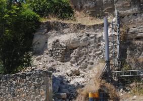 El recinto de la muralla almohade de Marchena sufrió un desprendimiento el pasado sábado. Foto: María Montiel