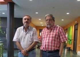 Luis Naranjo y Francisco Toscano, tras su reunión en el Ayuntamiento. Foto: El Correo