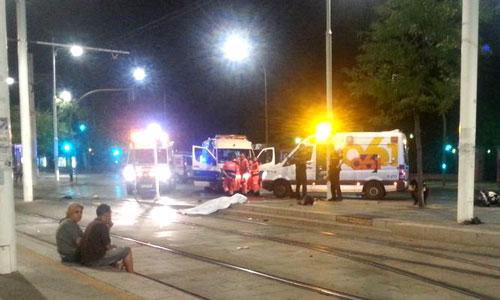 Fallece un motorista en el Prado. Foto:  Mercedes Yélamo@mym1989