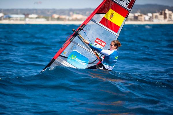 Marina Alabau, en acción.