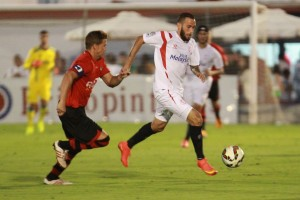 Aleix Vidal debutó como sevillista (Foto: Tolo Parra)