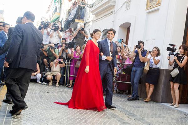 Boda de Fran Rivera y Lourdes Montes en Sevilla. / Foto: Carlos Hernández