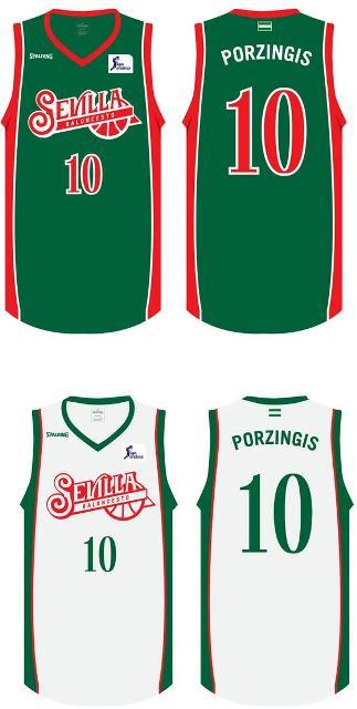 Las nuevas camisetas y el nuevo logo del equipo.