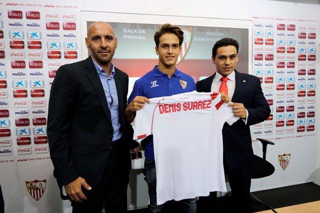 Monchi, Denis Suárez y Del Nido. / José Luis Montero.