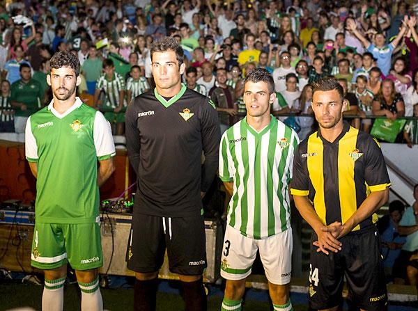 Nuevas equipaciones del Betis 2014-15. / Carlos Hernández