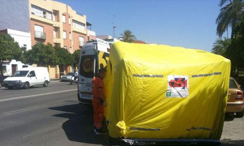Aparece un hombre muerto en su vehículo en la Ronda del Tamarguillo. Foto: El Correo
