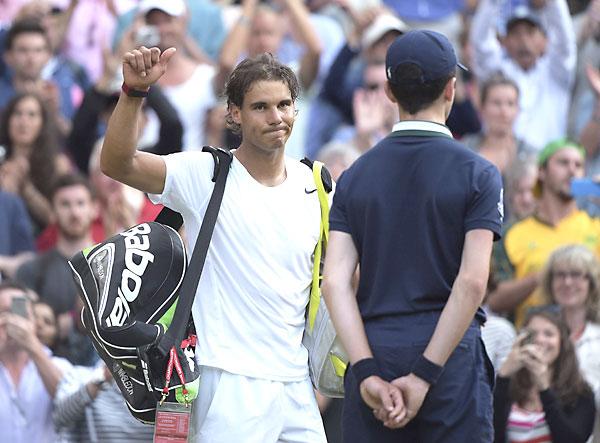 Rafael Nadal, tras acabar el partido. / EFE