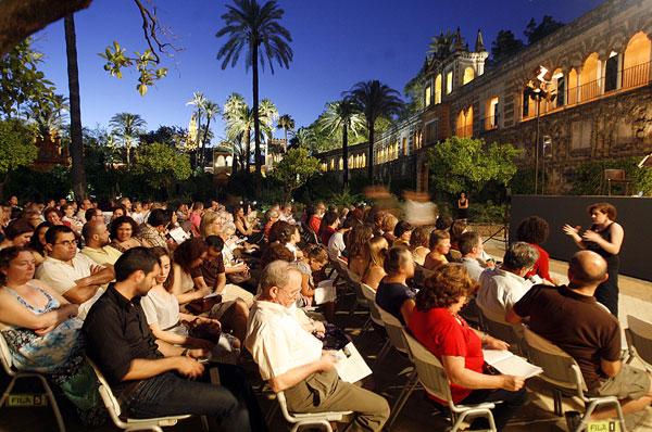 Un concierto en las Noches de los Jardines del Alcázar. / Javier Cuesta