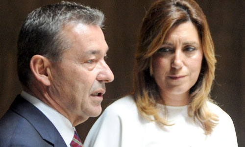 """Paulino Rivero y Susana Díaz han pedido este miércoles al presidente del Gobierno de España, Mariano Rajoy, que convoque """"cuanto antes"""" la conferencia de presidentes"""