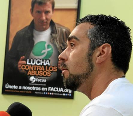 Rubén Sánchez, uno de los rostros más populares de los movimientos sociales sevillanos, en una imagen de archivo. / El Correo