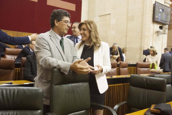 Sevilla 04 09 2013: Discurso de Susana Diaz en el parlamento<br /><br />  FOTO:J.M.PAISANO