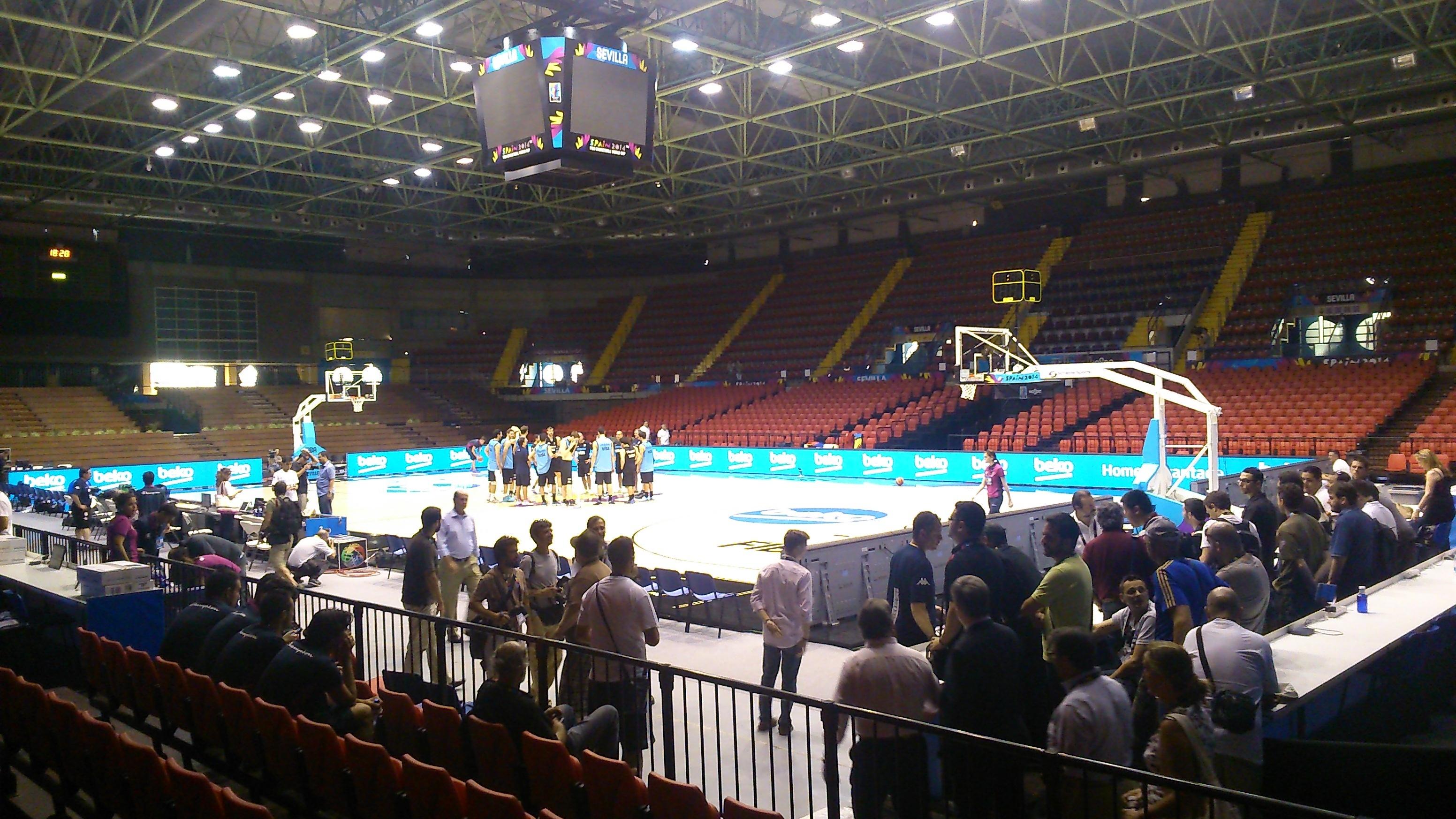 El pabellón de San Pablo está listo para el Mundobasket. / E.P.