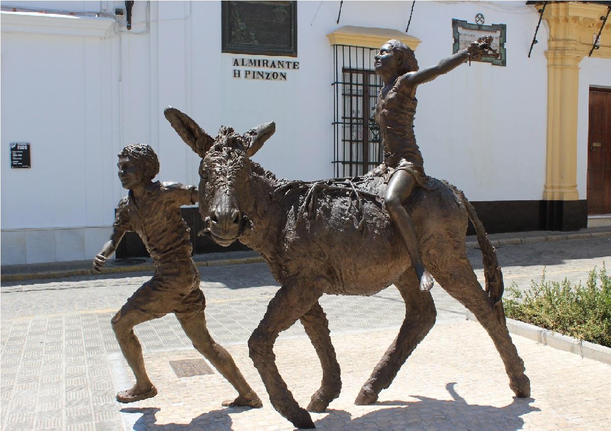Escultura Platero / M. Bautista