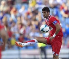 Fazio, con el brazalete de capitán del Sevilla. Fuente: EFE.