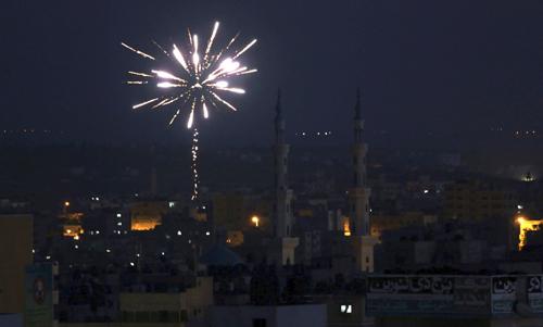 CELEBRACIONES DEL ALTO EL FUEGO EN GAZA
