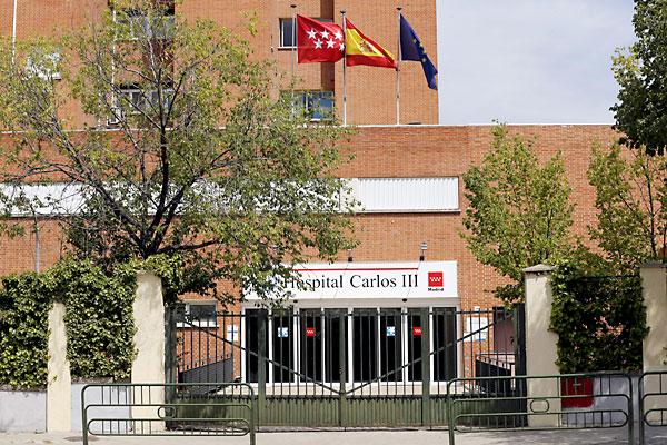Hospital Carlos III, donde se encuentra ingresado Miguel Pajares. / EFE