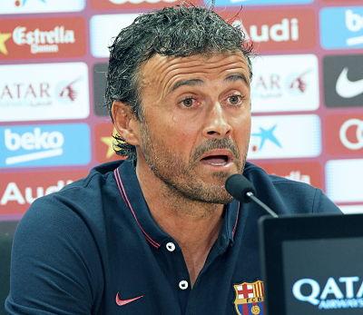 Rueda de prensa del técnico del F.C.Barcelona