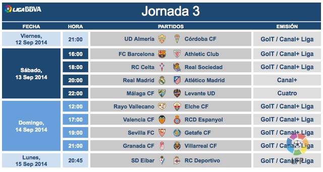 Tercera jornada
