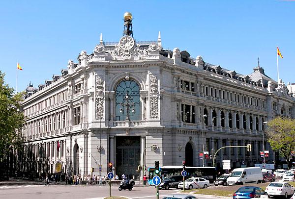 Edificio central del Banco de España en Madrid.