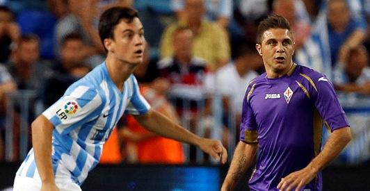 Joaquín, durante el Málaga-Fiorentina del domingo / Málaga CF