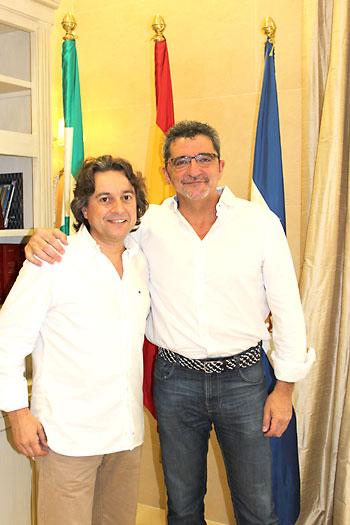 Javier Barón (i) y Gutiérrez Limones. / El Correo