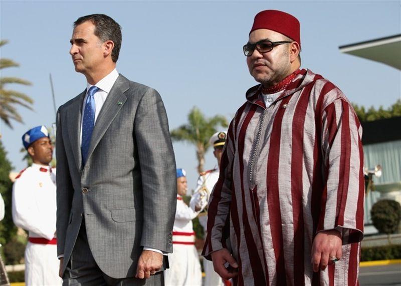 El rey Felipe VI junto a Mohamed VI. /GETTY