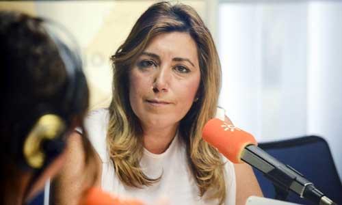 Susana Díaz en un momento de la entrevista.