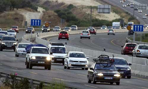 El tráfico en la autopista A-49 fue intenso, aunque no se registraron retenciones de importancia. Foto: Pepo Herrera