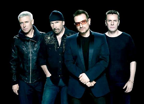 La banda irlandesa U2.
