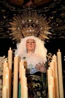 La Virgen de los Remedios, antes de ser saqueada en su capilla.