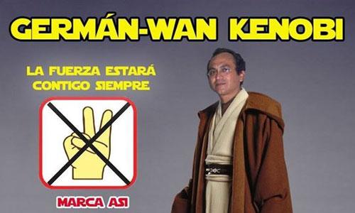 Germán-Wan Kenobi cancidato a las elecciones peruanas.
