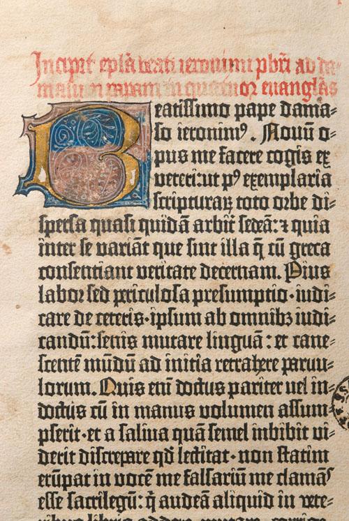 Una Biblia de Gutenberg se encuentra en la biblioteca de la US.