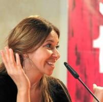 Rocío Márquez, ayer durante la rueda de prensa ofrecida en el marco de la Bienal. / Antonio Acedo