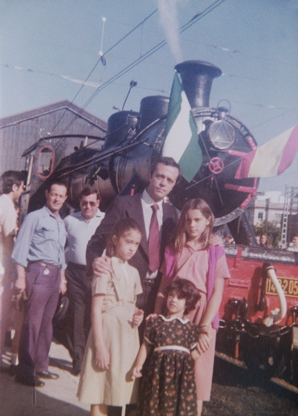 Adolfo del Corral, antiguo jefe de la estacion de trenes de San Bernardo.