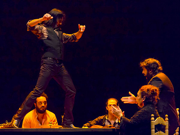 Momento de la actuación de Farruquito. / José Luis Montero