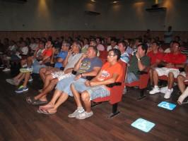 Coquineros en la reunión de la semana pasada en Pilas con los alcaldes y el delegado del Gobierno andaluz en Sevilla.