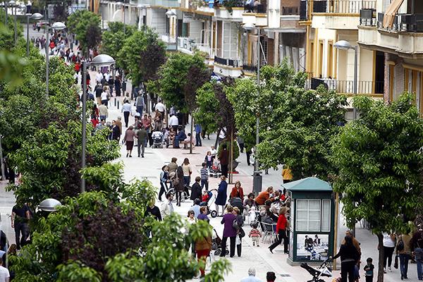 La vidilla peatonal en la calle Asunción sube como la espuma. / Javier Cuesta