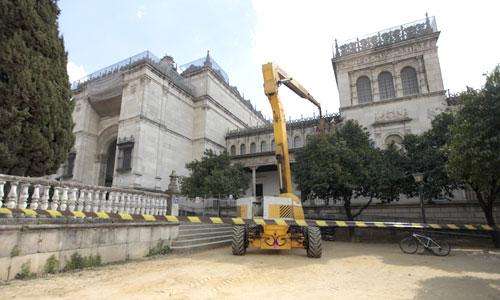 Imagen de las últimas obras de urgencia realizadas en el Arqueológico. Foto: Estefanía González