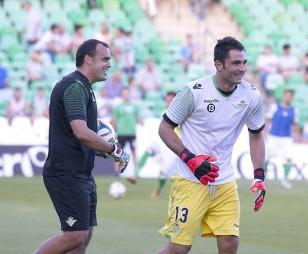 Real Betis - Llagostera. Relaño y Adán. / Foto: Inmaculada Flores