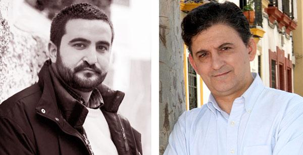 Daniel Ruiz García (izq.) y Francisco Gallardo (dcha.) son los dos sevillanos incluidos en 'Tiros libres'. / El Correo