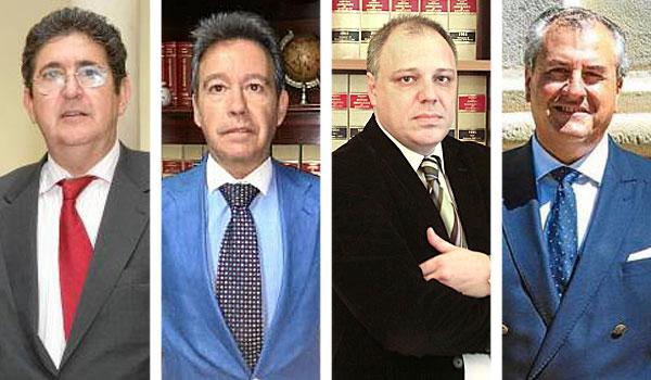 De izda. a dcha. José Joaquín Gallardo, Felipe Pajares Briones, José Manuel Carrión y Tomás Gamero. / El Correo