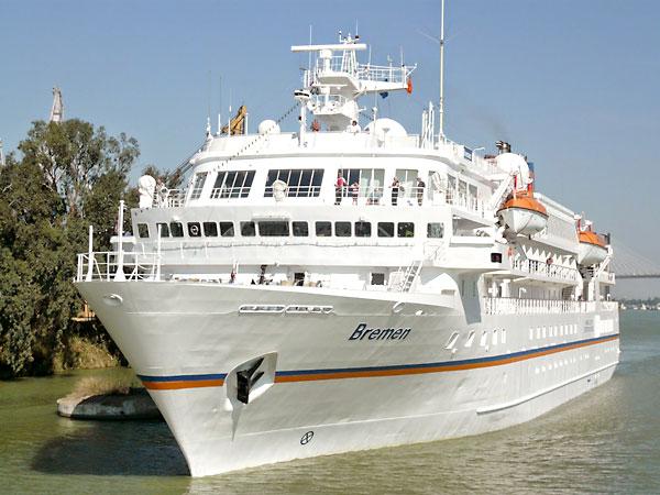 El crucero Bremen atracará en el Muelle de Las Delicias. / El Correo