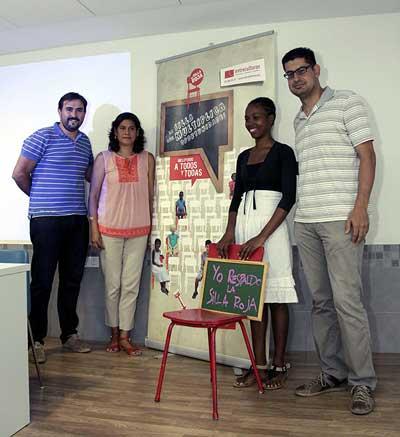 De izquierda a derecha, Manuel Galán, Roxana Rosales, Ingrid Cuero y José Manuel Moreno (de Entreculturas). Foto: José Luis Montero