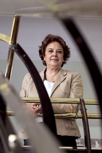 La presidenta de la Autoridad Portuaria, Carmen Castreño, en la sede de la avenida de Moliní. / José Luis Montero