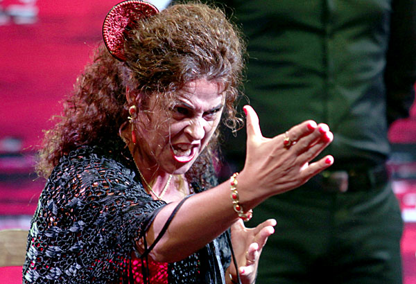 Actuación de Melchora Ortega. / Antonio Acedo