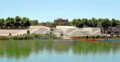 Recreación del proyecto del Paseo de las Artes que, por el momento, deberá esperar a que se vuelva a convocar el concurso público para su construcción. Foto: El Correo