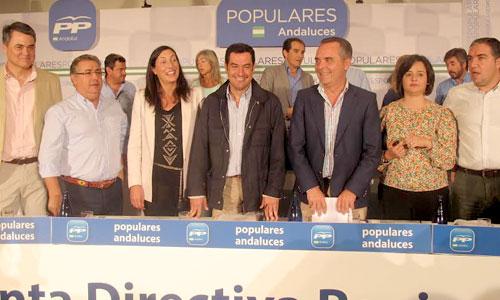 Juanma Moreno en la Junta Directiva Regional del PP-A.